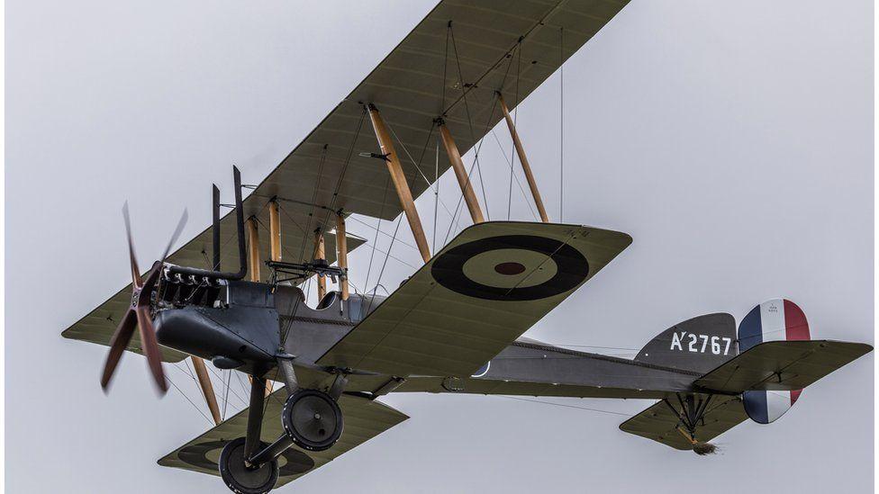 World War One aircraft flying at Stow Maries