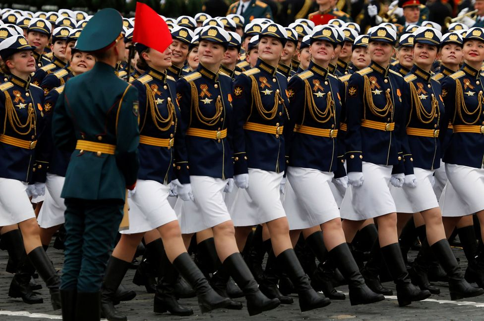 Servicewomen on parade, 9 May 17