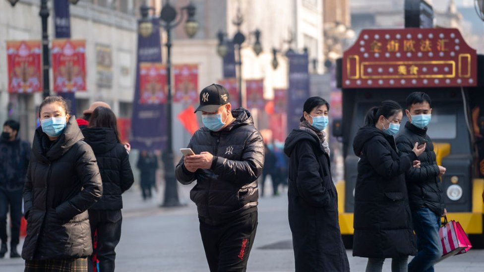 China urged citizens to wear face masks in public places during the spring festival