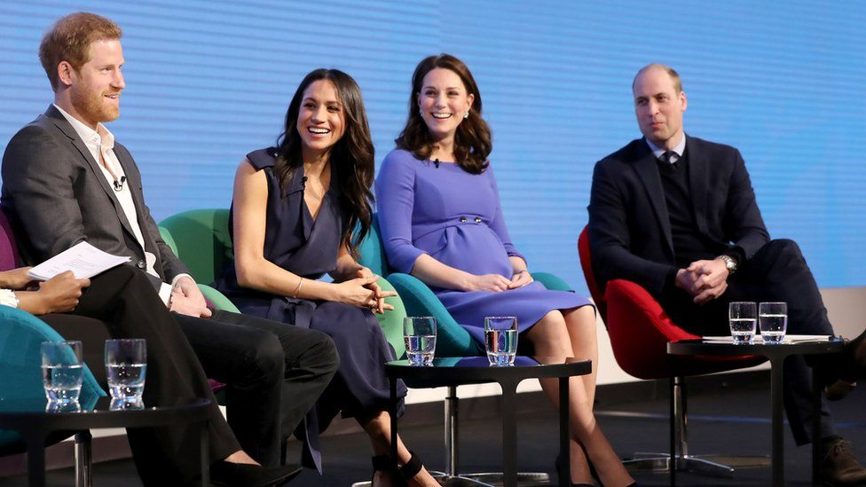 The couple take part in their first joint engagement with the Duke and Duchess of Cambridge at a Royal Foundation forum. Meghan shows her support for the £MeToo and Time's Up Campaigns during an on-stage Q&A.