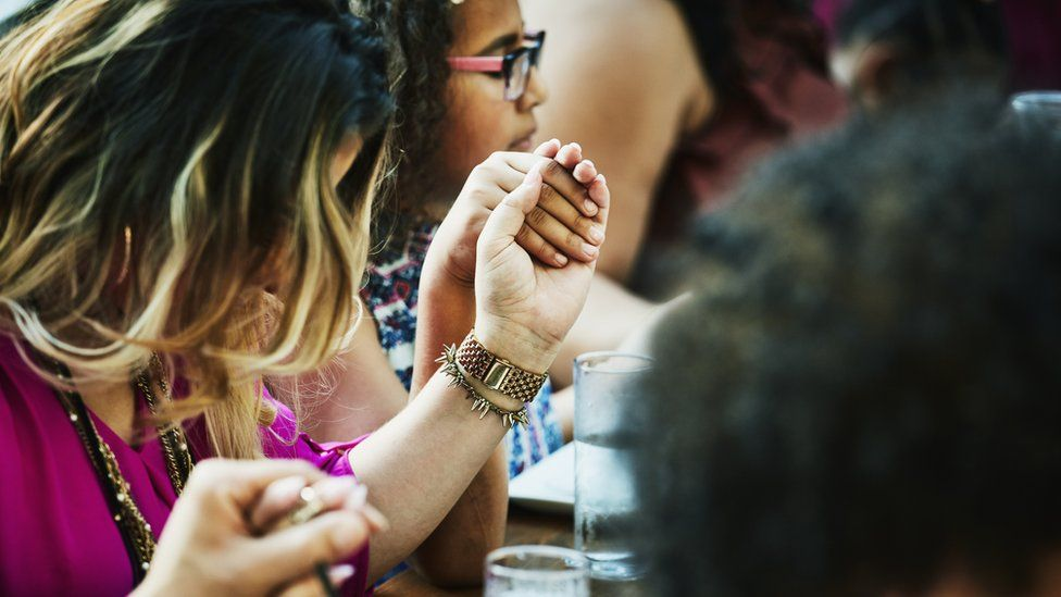 Group prayer session