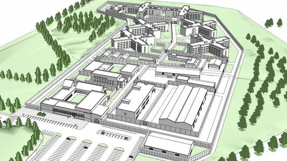 Artist's impression of plans for Full Sutton new prison