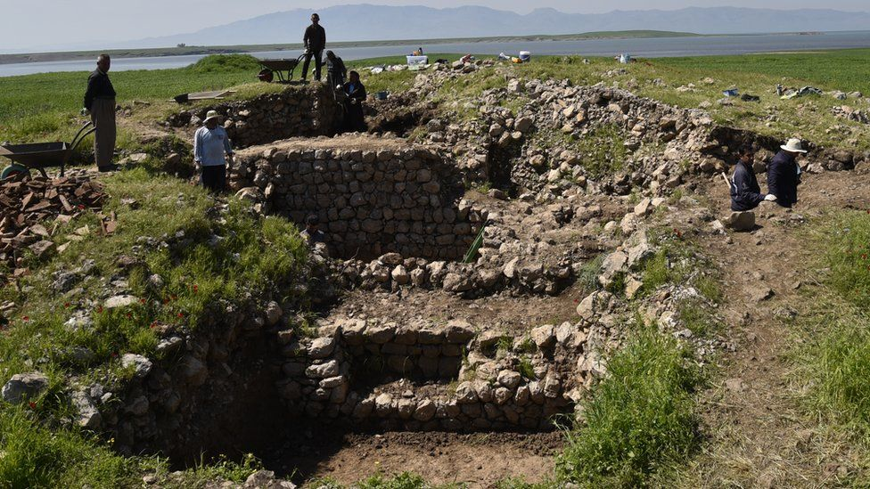 Walls unearthed at Qalatga Darband