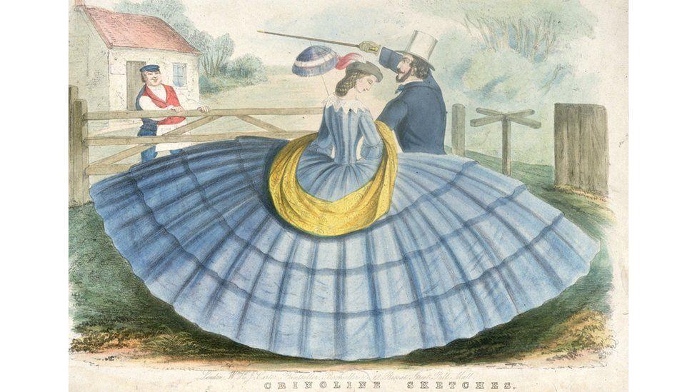 Если мужчина мог себе позволить одеть жену в кринолины (что требовало больших объемов ткани), значит, у него был значительный доход