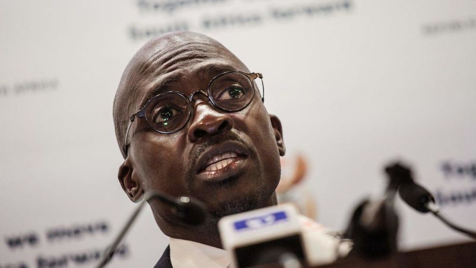 Newly appointed Finance Minister Malusi Gigaba briefs press in Pretoria