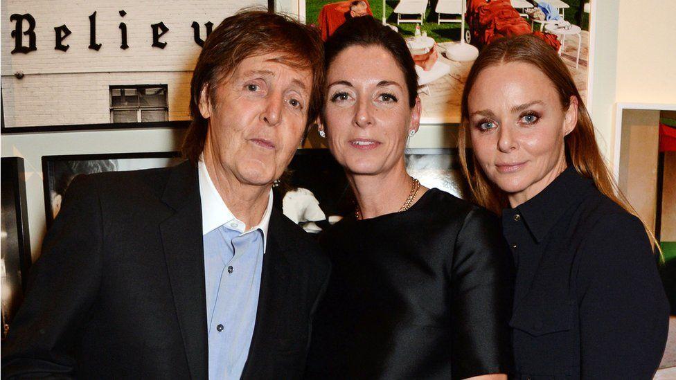 Paul, Mary and Stella McCartney