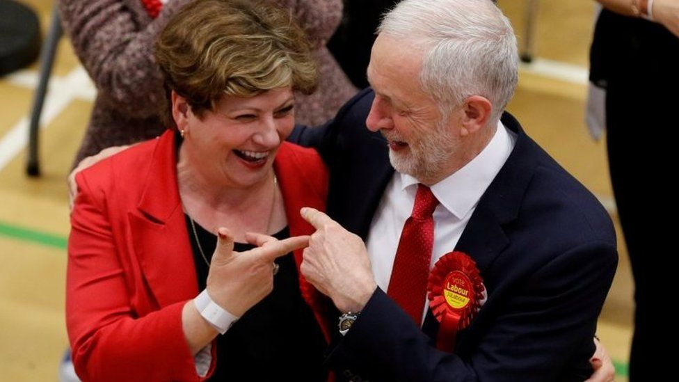 Emily Thornberry with Jeremy Corbyn