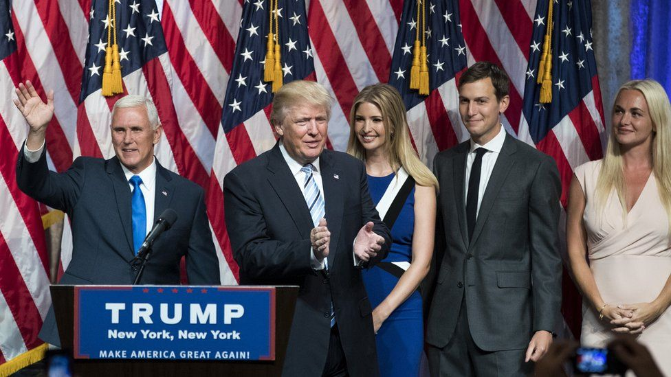 Pence, Trump and families