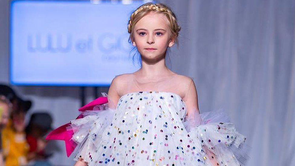 Daisy-May Demetre modelling for Lulu et Gigi in London