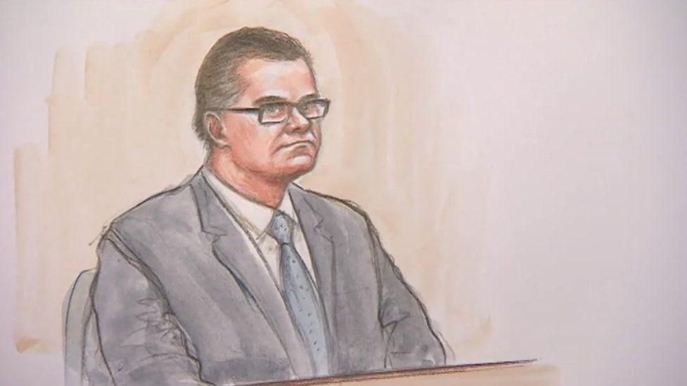 Court sketch of Jason Lawrance