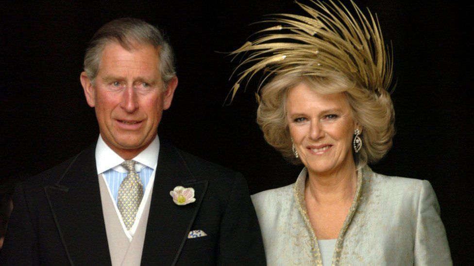 The Prince of Wales and Camilla, Duchess of Cornwall after their wedding