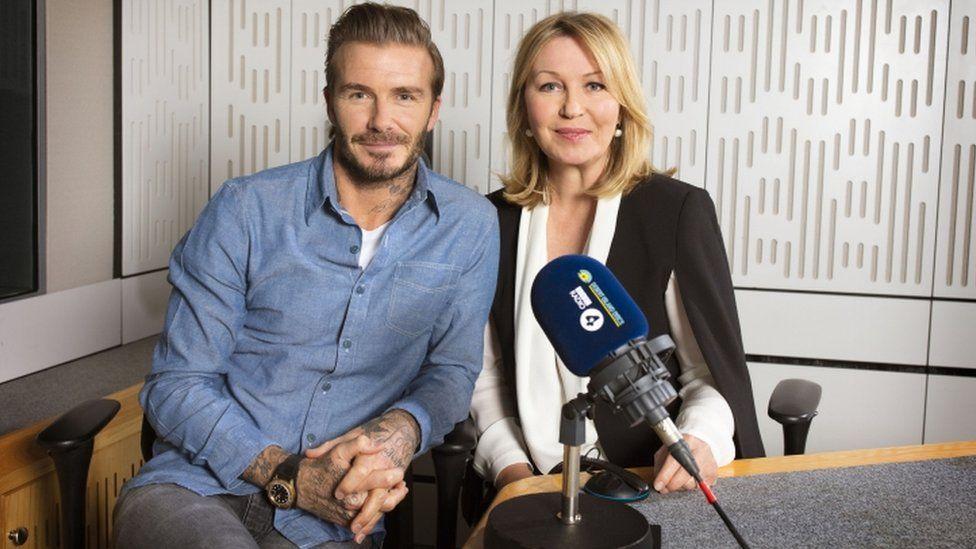 Footballer David Beckham and Kirsty Young