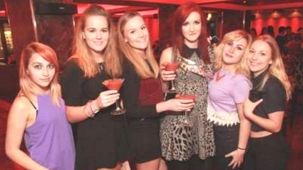 Molly and her friends on a night out