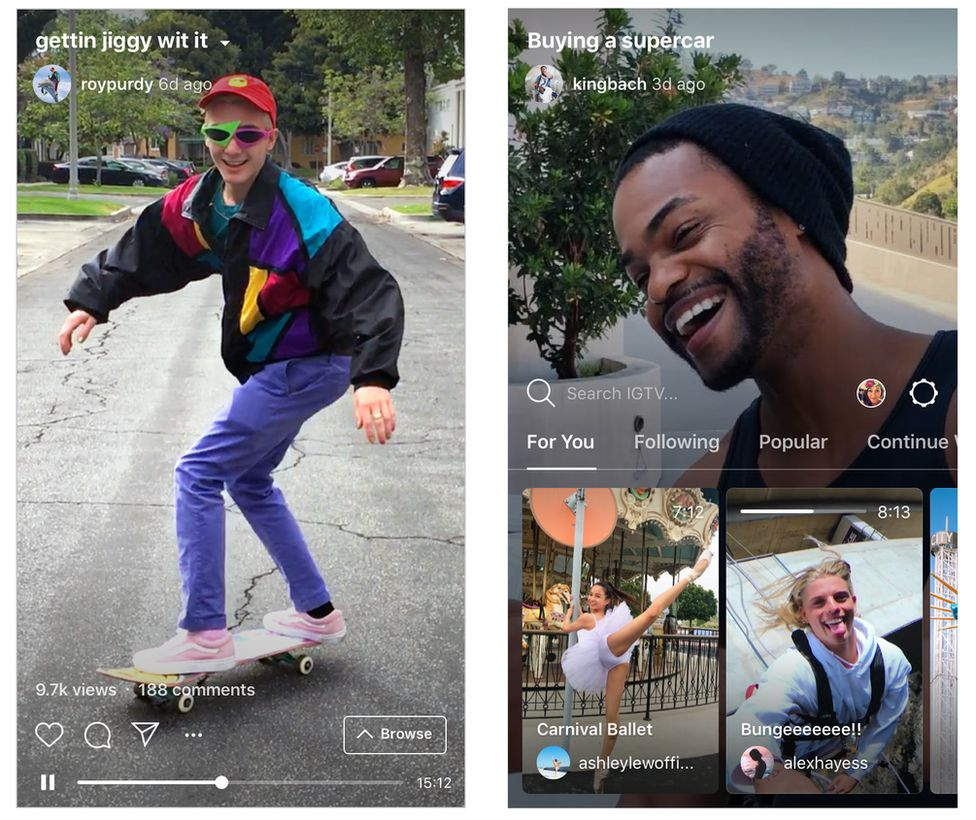 How IGTV will look