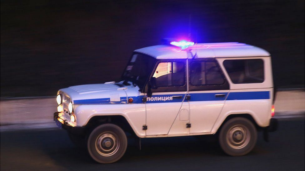 Russian police car, file pic