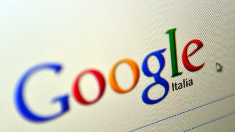 Google Italia page