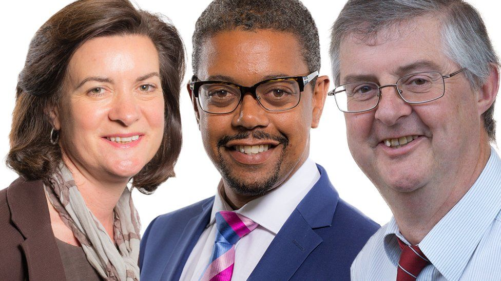 Eluned Morgan, Vaughan Gething and Mark Drakeford