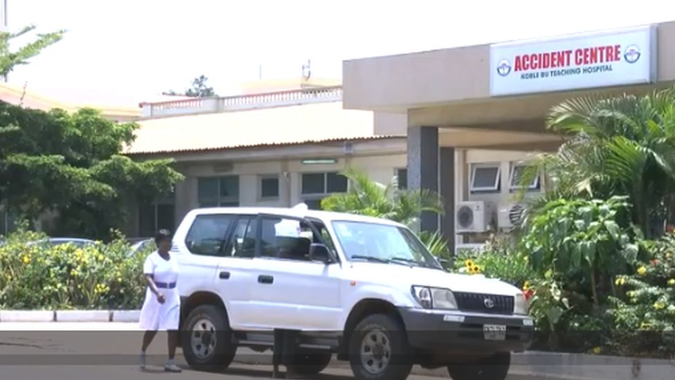 Accident centre of a hospital in Ghana