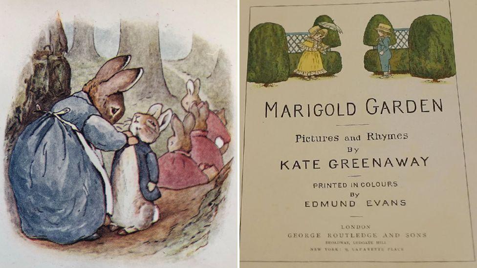 Peter Rabbit and Kate Greenaway interiors