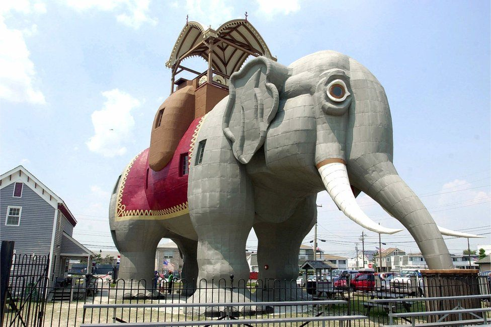 Lucy the elephant, a six-storey elephant shaped building in New Jersey