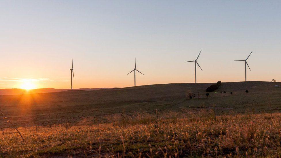 Wind turbines in Australia