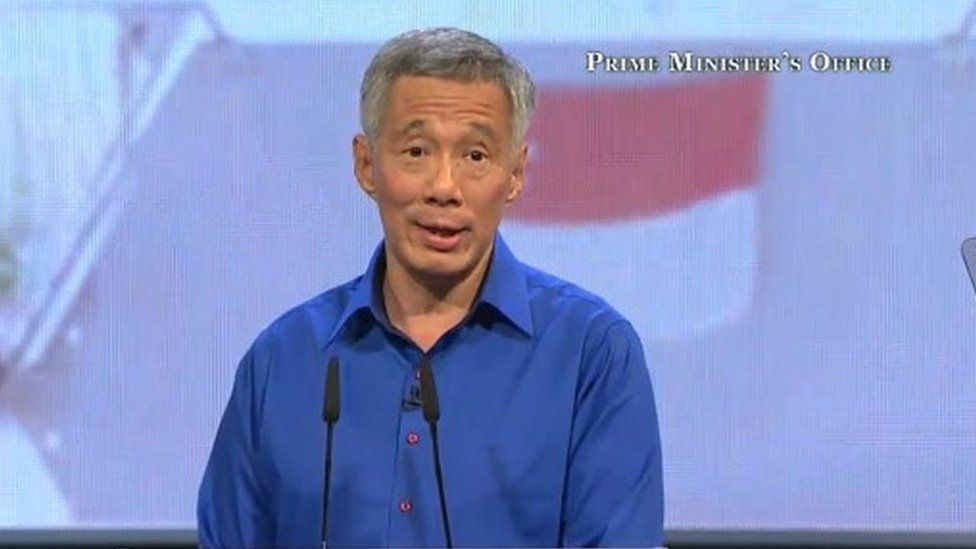 Singapore PM addressing rally after fainting, 21 Aug 2016