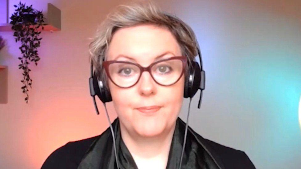 Jess McBeath facing the camera in a remote interview