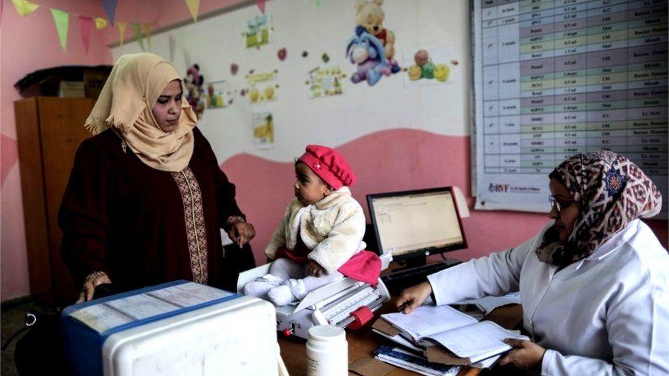 Unrwa-run clinic in Nuseirat refugee camp, Gaza (17/01/18)
