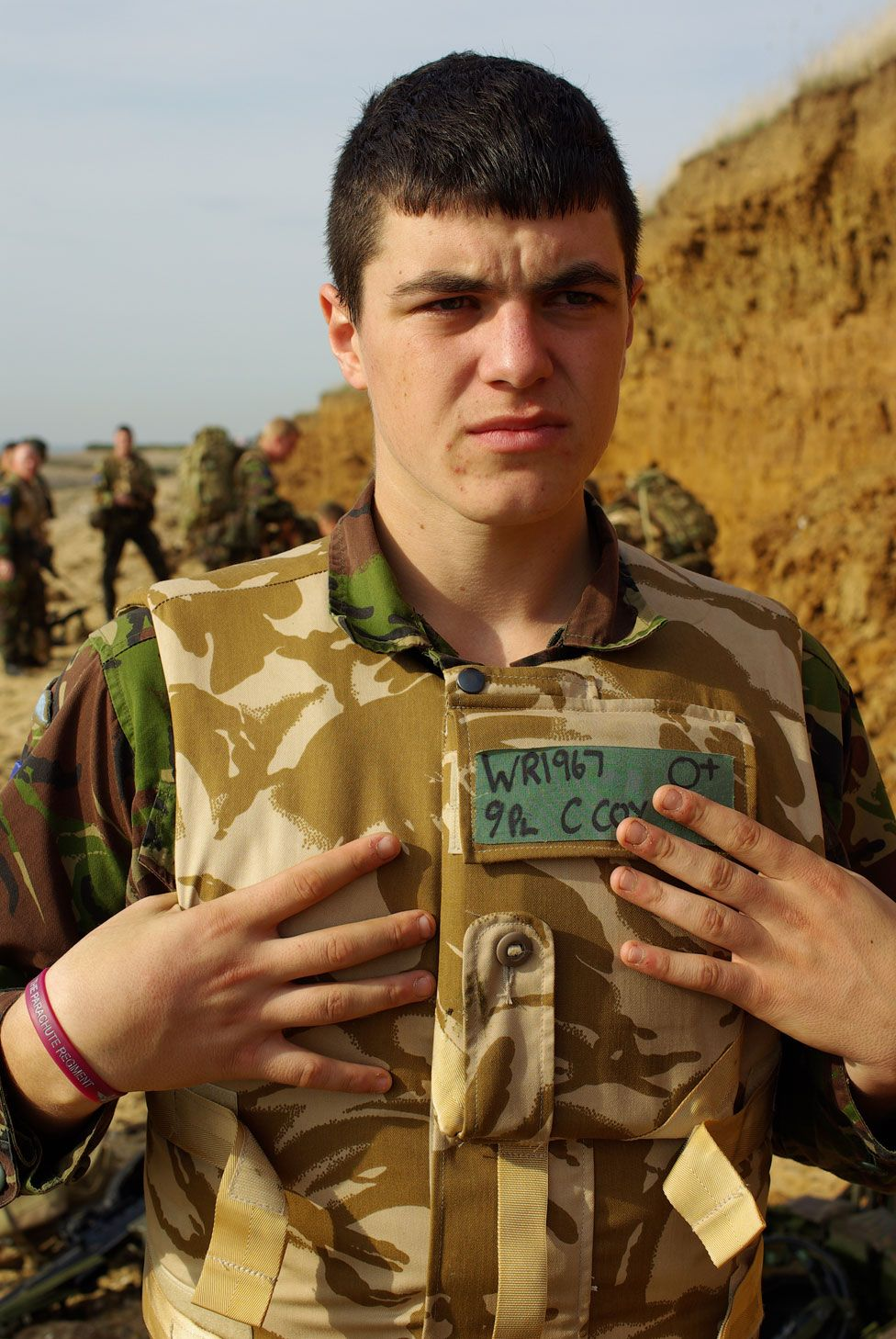 Callum Wright in the army