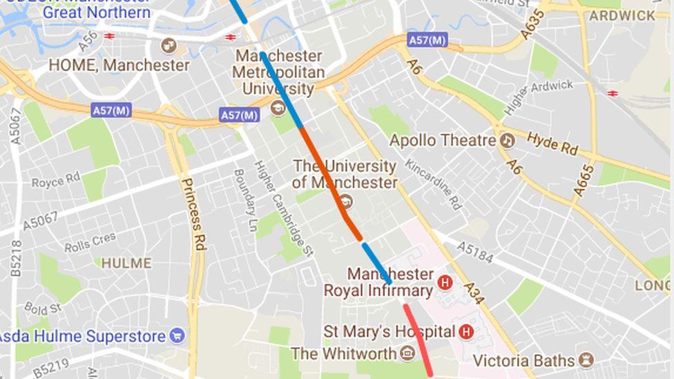 Oxford Road bus lanes