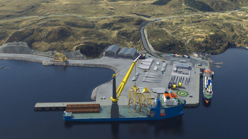 Illustration of new deep water port