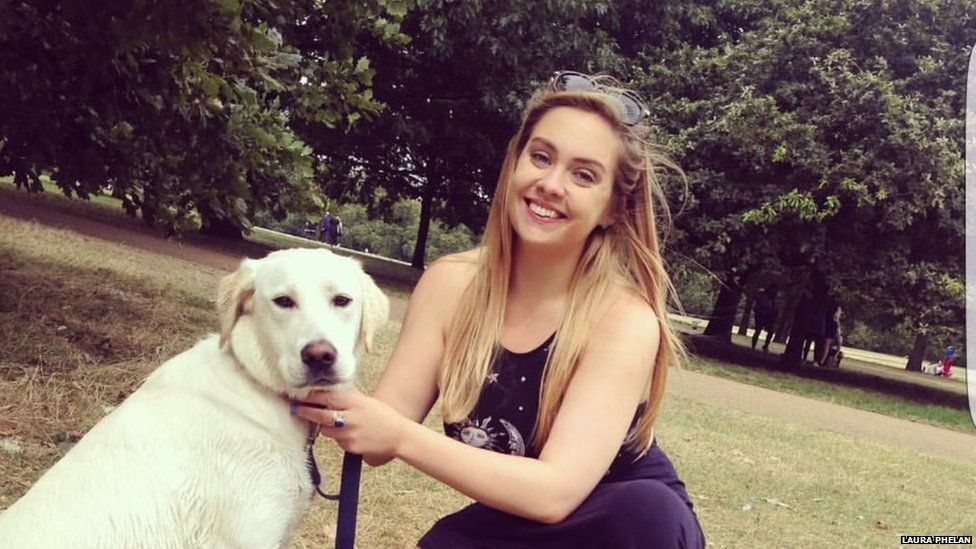 Laura Phelan with her dog