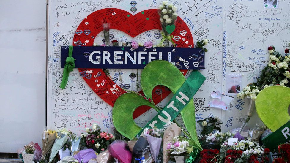 Grenfell Tower fire tribute wall