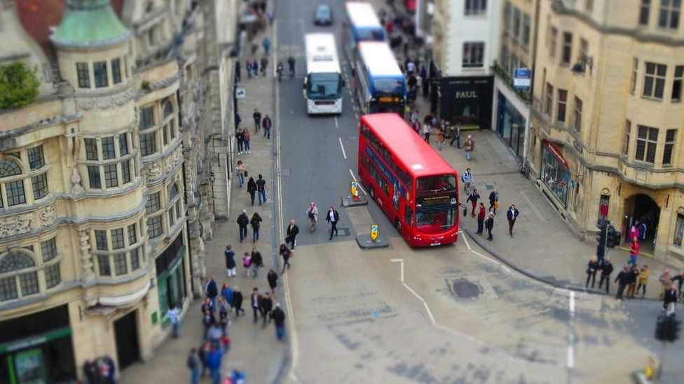 Oxford's High Street from Carfax Tower
