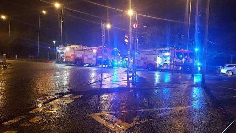 Scene of fatal crash in Strabane