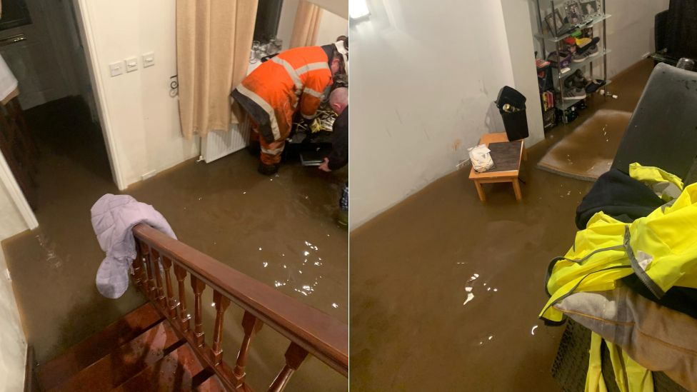 Flooding in Chris Spencer's home