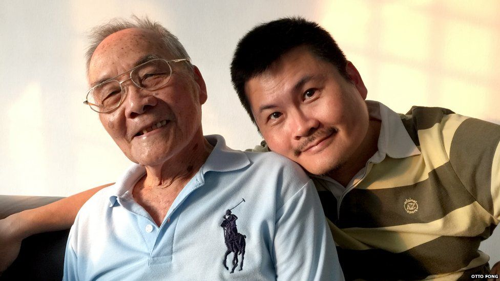 Picture of Fong Swee Suan (left) and his son Otto Fong (right), provided in July 2015