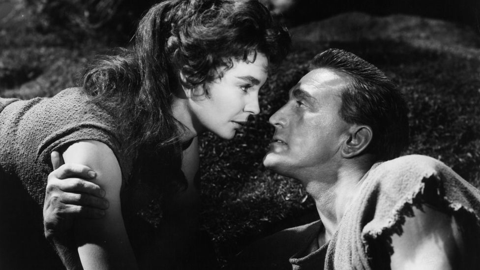 British actress Jean Simmons co-starred in Spartacus with Douglas