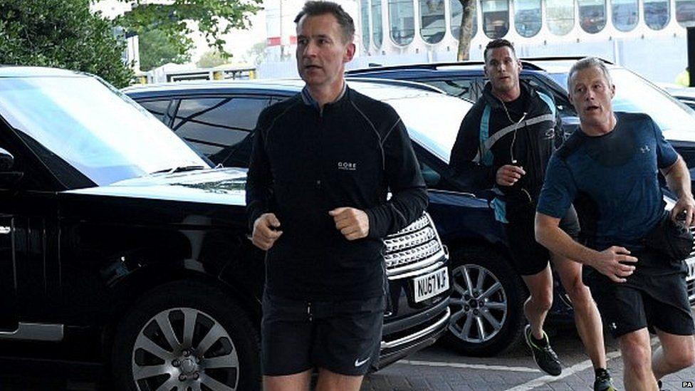 Jeremy Hunt running on Monday