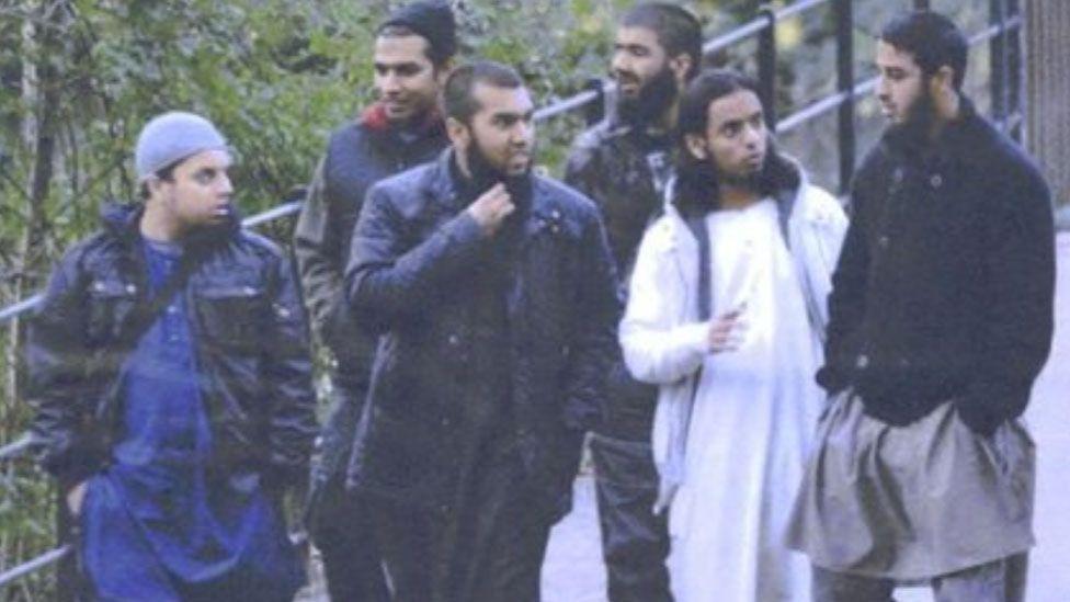 Mohibur Raham, Gurukanth Desai, Abdul Miah, Usman Khan, Mohammed Chowdhury, Mohammed Shahjahan (pictured, left to right) in Roath Park, Cardiff on 7 November 2010