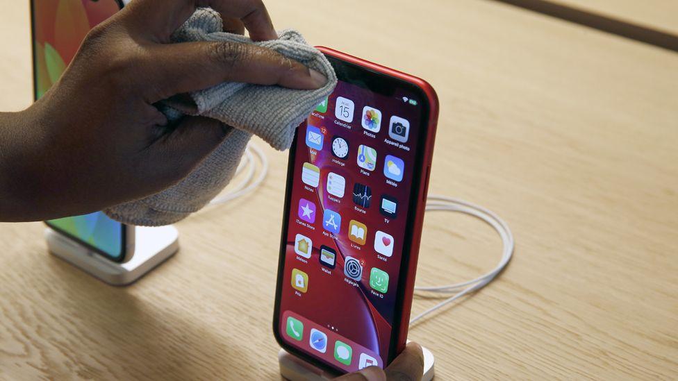 Apple iPhones on sale in Paris, 2018