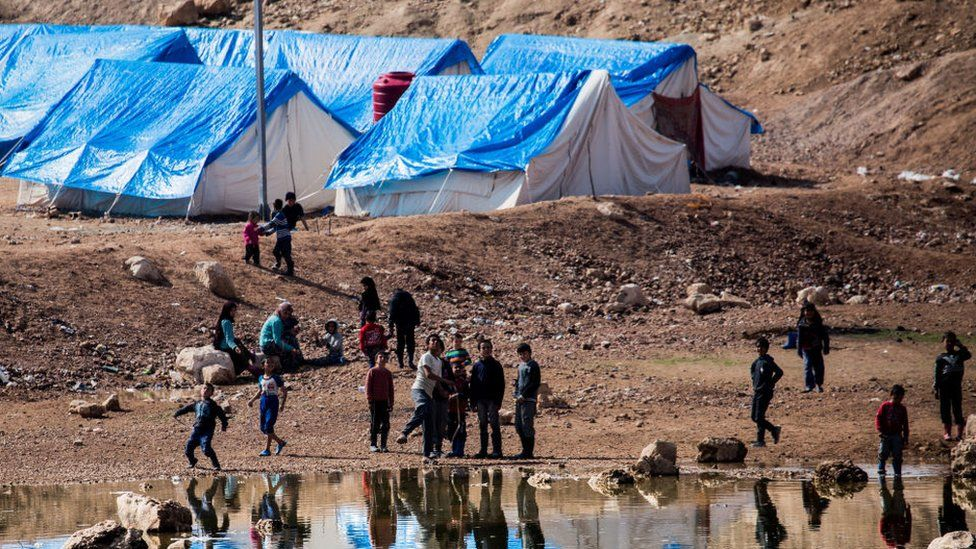 The Internally Displaced Persons' camp at Ain Issa, Syria