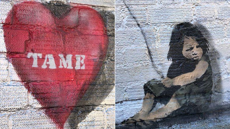 Graffiti thought to belong to Banksy