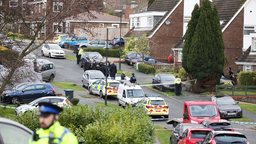 Police in Hazel Way