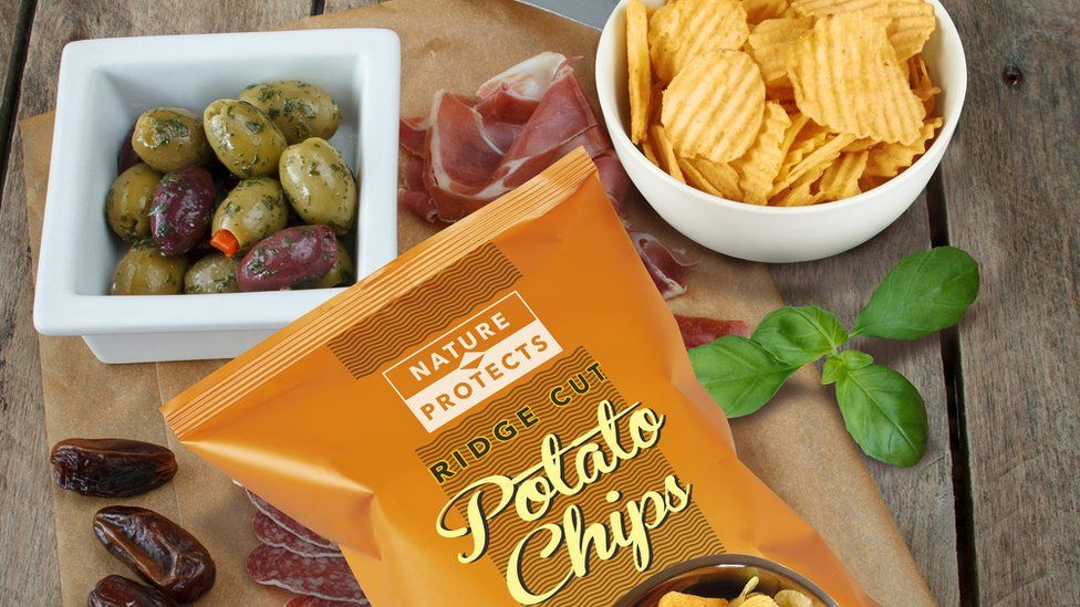 Compostable crisp packets would help avoid contamination of food waste