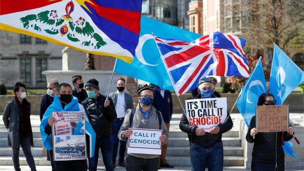 Protest against Uyghur genocide