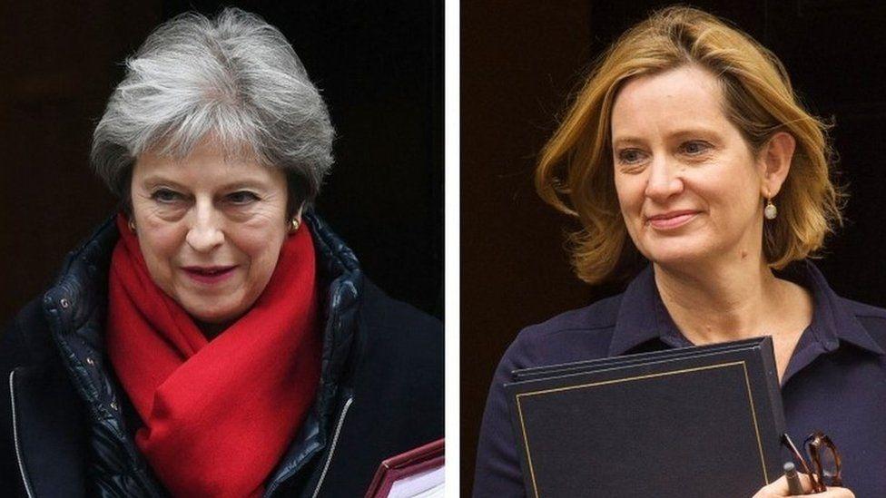 Theresa May and Amber Rudd