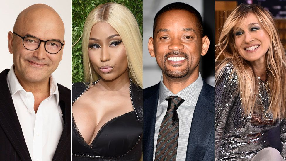 Gregg Wallace, Nicki Minaj, Will Smith and Sarah Jessica Parker