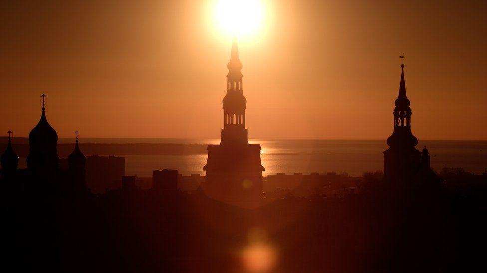 Tallinn in sunset