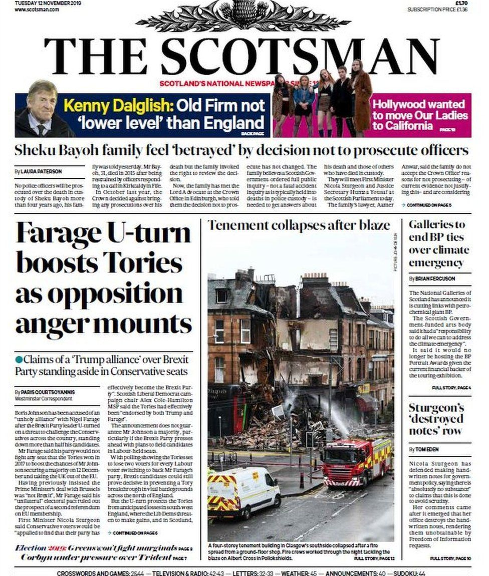 The Scotsman front page